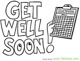Feel Better Coloring Pages I Hope You Get Well Soon Card Talk Just