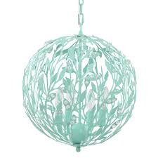 turquoise chandelier lighting. Luna Light Fixture In Turquoise, 4-Light Turquoise Chandelier Lighting