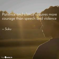 Patience And Silence Requ Quotes Writings By Sukriti Mishra