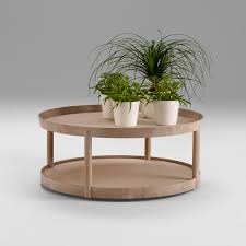 contemporary coffee table oak round commercial archipelago by michael sodeau