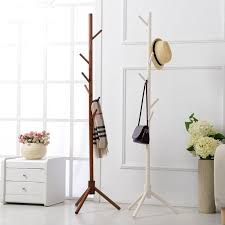 2019 8 hook modern colorful coat hanger stand for hall furniture simple wooden floor clothes rack bedroom living room from kenna456 99 5 dhgate com