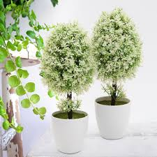 office pot plants. Artificial Fake Green Potted Plants Plastic Tree Home Garden Table Office Decor Pot EBay