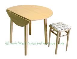 37 inch diameter round drop leaf table