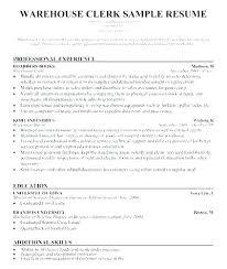 Stock Clerk Resume Sample Grocery Clerk Resume Resume Paper Clerk