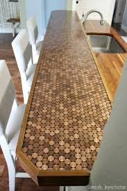 DIY Countertops Made with Pennies