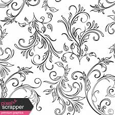 Swirls Templates Paper Templates Flowers Swirls 08 Graphic By Melo