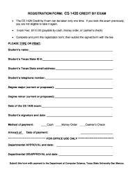 Computer Registration Form Fill Online Printable