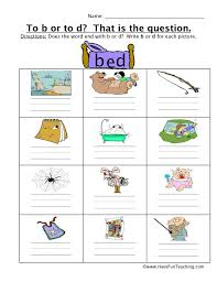 When a child attempts to work out an unknown word, s/he will need to be able to identify the letters' corresponding sounds. To B Or To D Sounds Worksheet Have Fun Teaching Have Fun Teaching Study Fun Phonics Worksheets