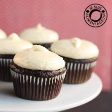 chocolate cupcake with cream cheese frosting. Brilliant Cheese Banana Chocolate Cupcakes In Cupcake With Cream Cheese Frosting O