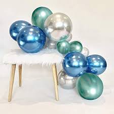 Blue Metallic Chrome Latex Balloons, 50pcs 12 Inch ... - Amazon.com