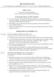 sample resume for investment banking resume investment banking skinalluremedspa com