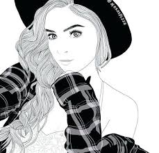 Tumblr Girl Coloring Pages Smite Medusa Coloring Book Page Tumblr