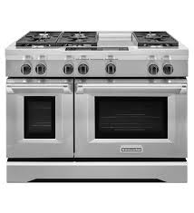Professional Ovens For Home 48 Inch 6 Burner With Steam Assist Oven Dual Fuel Freestanding