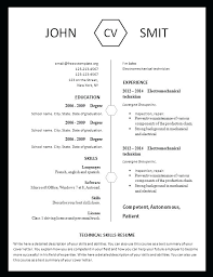 Modern Resume Format Free Template That You Can Print Pdf