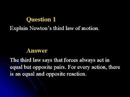 motion action reaction newtons