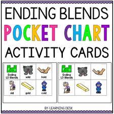 Ending Blend Words Pocket Chart Activities First Grade