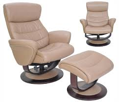 barcalounger tetra leather recliner chair and ottoman
