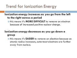 Drill pd 311/17/14 Rank in order of increasing ionization energy ...