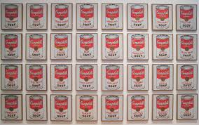 Image result for andy warhol 32 campbell's soup cans