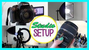 Youtube Set Up Lighting My Lighting Camera Studio Setup How To Create Great Videos