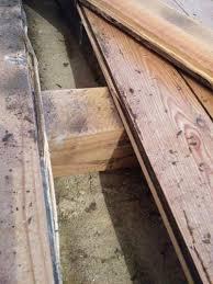 Alte fußbodendiele aus pitch pine. Dielenboden Auf Betonfundament Dammung
