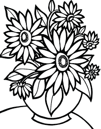 Flower Coloring Page Flowers Coloring Coloring Pages Flower Garden
