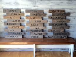 beach signs wooden wall art