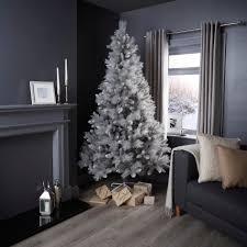 Grey Christmas Tree 7ft Silver Tip Fir Classic Christmas Tree Departments Diy At Bq