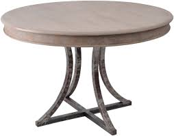 metal base dining table. Simple Design Round Dining Table Chic Style Metal Base