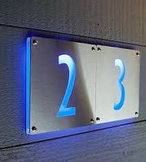 led illuminated address numbers from mint led sign d49