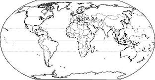Small Picture World Map for School Coloring Page NetArt