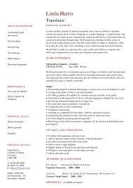 Dreher Translation Resume by document type Carpinteria Rural Friedrich
