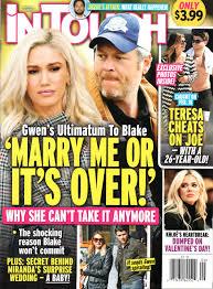 Tony kanal helped stefani with the song. In Touch Magazine March 4 2019 Gwen Stefani Blake Shelton Teresa Giudice Khloe Kardashian Jussie Smollett American Media In Touch Amazon Com Books