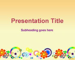 Spring Powerpoint Background Spring Flowers Powerpoint Template Background For