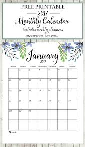 2017 Free Printable Monthly Calendar Bloggers Best Diy Ideas