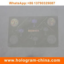 Laser Overlays Id - Transparent China Anti-fake Overlays Hologram 3d