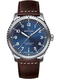 breitlingmens navitimer 8 automatic brown leather strap watch a17314101c1x1