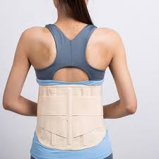 Beige back brace support women Lower Back Support Waist Lumbar Brace Belt Strap Backache Pain Relief Health Care free shipping