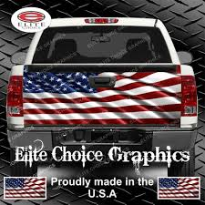 American Flag Truck Tailgate Wrap Vinyl Graphic Decal Sticker Wrap ...