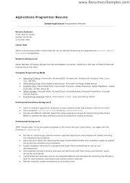 Computer Programmer Resume Examples Vb Programmer Resume Cover ...