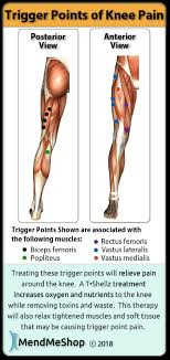 Muscle Pressure Points Chart Knee Pain Trigger Point Chart