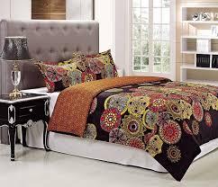com superior 300 thread count sunburst duvet cover set king california king home kitchen