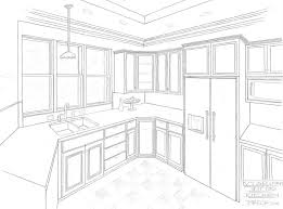 interior design kitchen drawings. Simple Interior 736x543 Kitchen Design Line Drawing Interior Sketches Throughout Drawings N