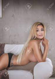 Portrait Of Beautiful Sexy Blonde Naked Woman With Long Hair Stock Photo Picture And Royalty Free Image Image