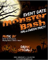 Party Flyer Templates Word Ms Word Halloween Party Flyer Templates