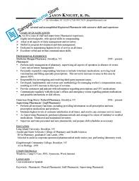 Pharmacist Resume Template Best Pharmacist Resume Sample Resume Badak