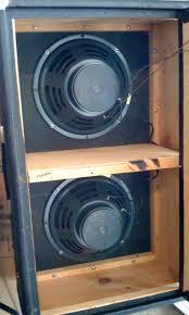Fender Bandmaster Speaker Cabinet Heres The Inside Of An Old 2x12 Fender Bandmaster Cabinet That I