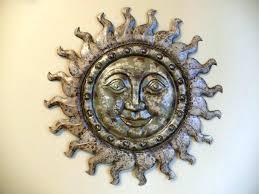large metal sun wall art extra