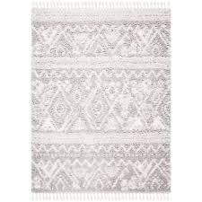 safavieh hand tufted flokati grey ivory wool rug 9 x