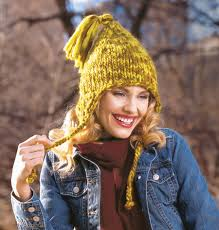 Earflap Hat Knitting Pattern Delectable Tasseled Earflap Hat Free Patterns